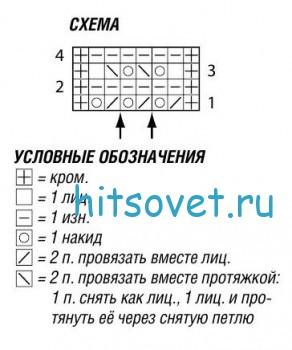 Схема вязаного топа