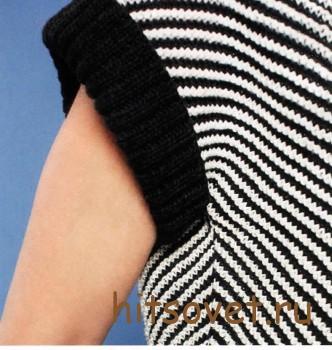 Пуловер женский с диагональными полосами, фото 3.