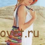 Вязание крючком сумки и шляпы