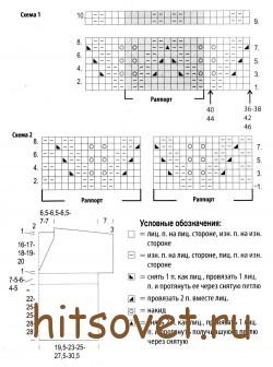 Схема летнего топа