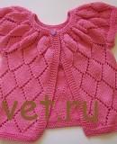 Вязание для малышей розовой кофточки
