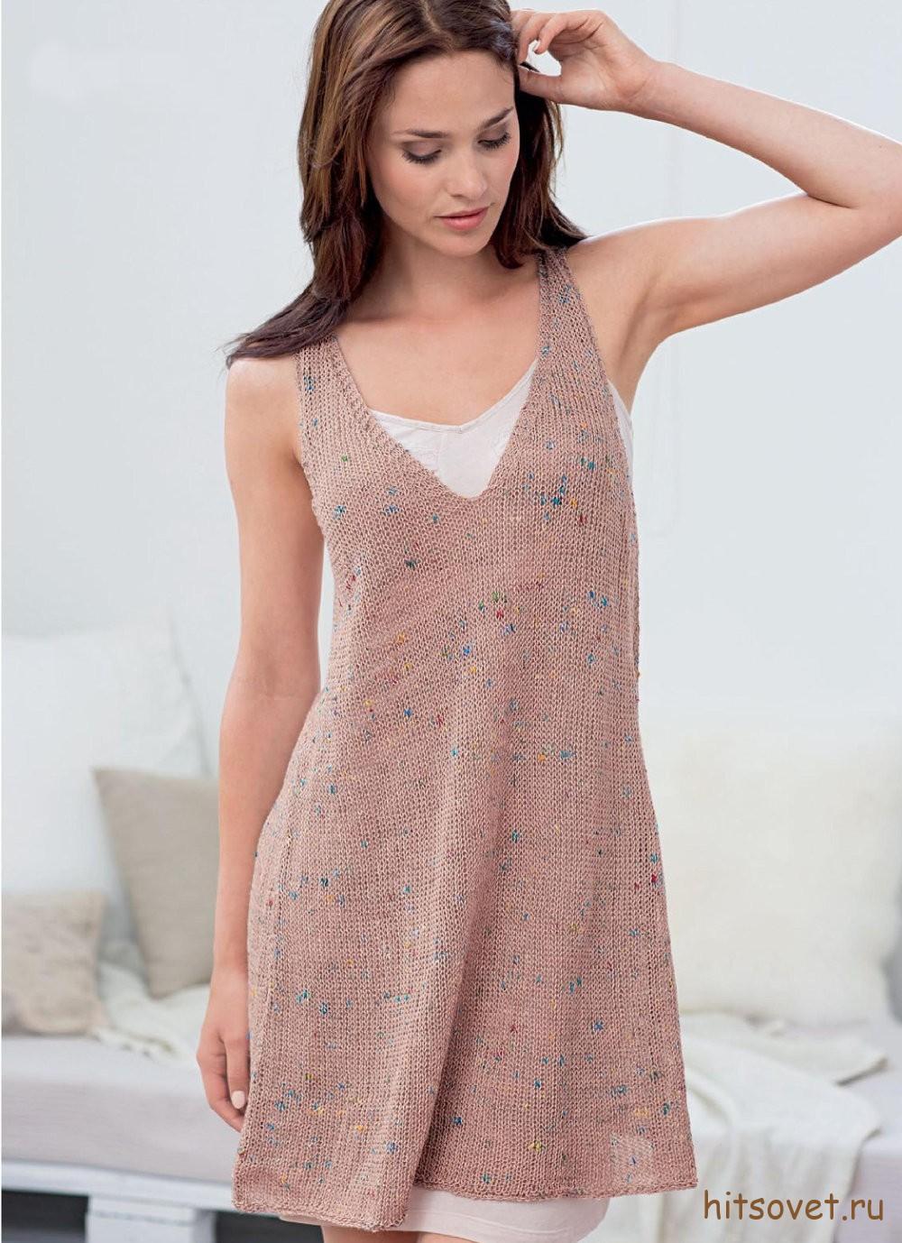 Меланжевое платье женское