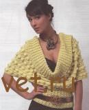 Женский пуловер с глубоким вырезом