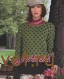 Жаккардовый пуловер женский