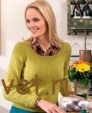Вязаный пуловер со структурным узором