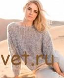 Женский пуловер с сетчатым узором