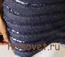Серое вязаное платье с пайетками, фото 2.