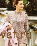 Вязание пуловера с рукавами летучая мышь