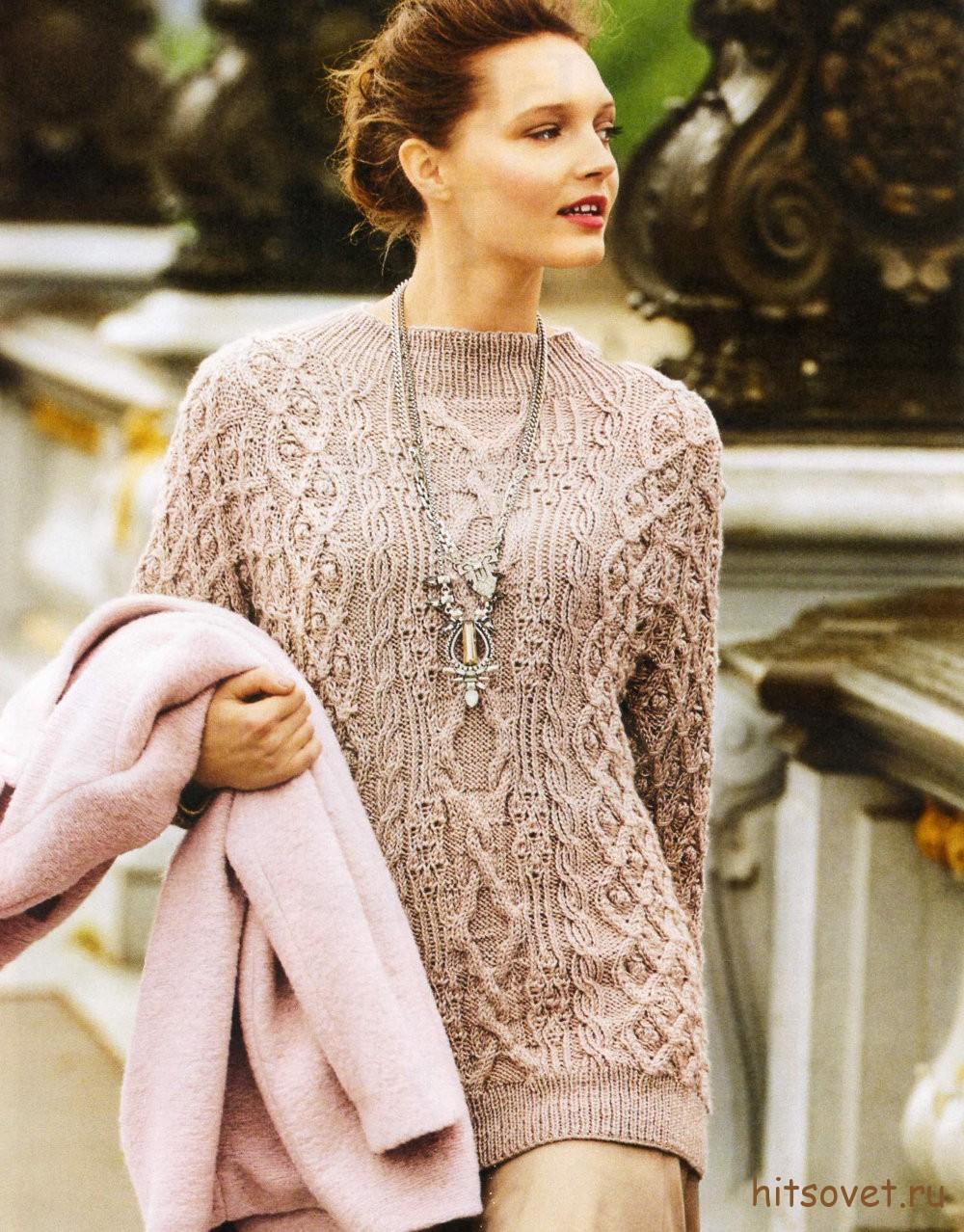 Вязание пуловера с рукавами летучая мышь - Хитсовет