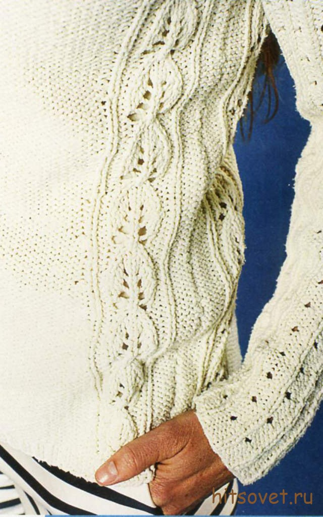 Белая туника с ажурными косами, фото 2.