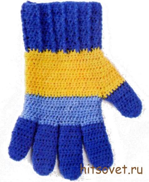 Мастер класс по вязанию перчаток крючком