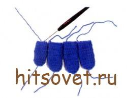 Мастер класс по вязанию перчаток крючком рис.2