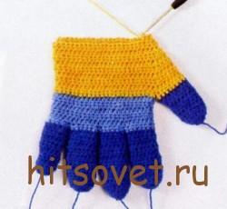 Мастер класс по вязанию перчаток крючком рис.3