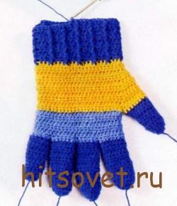 Мастер класс по вязанию перчаток крючком рис.4