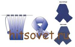 Шарф манишка схема вязания