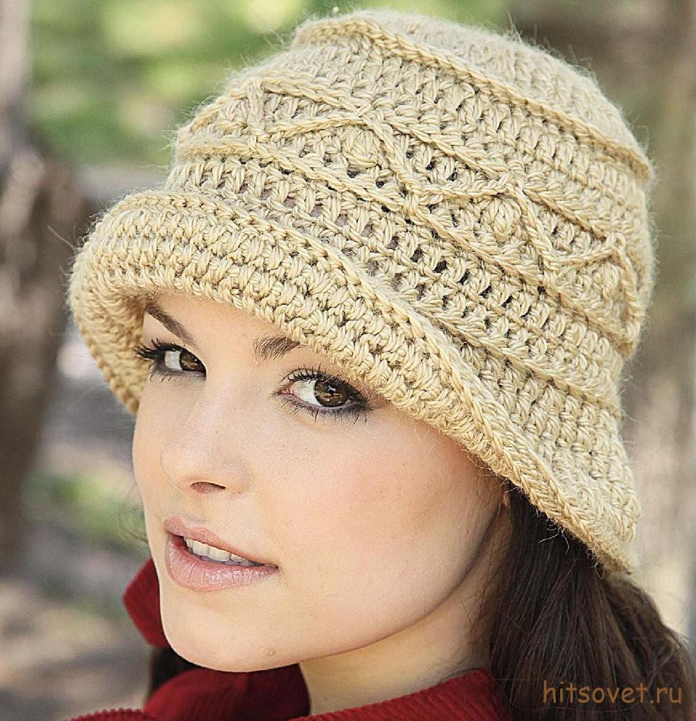 Вязаная шляпа крючком