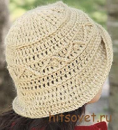 Вязаная шляпа крючком, фото 2.