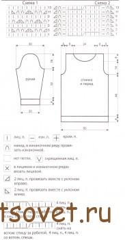 Схема и выкройка туники