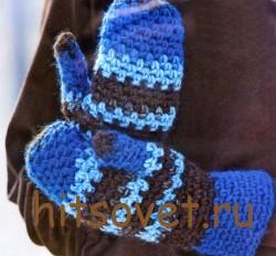вязание варежек
