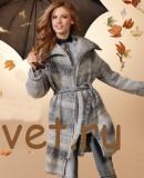 Вязаное пальто с поясом