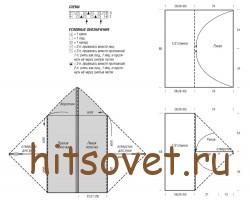 Схема и выкройка вязаного жакета