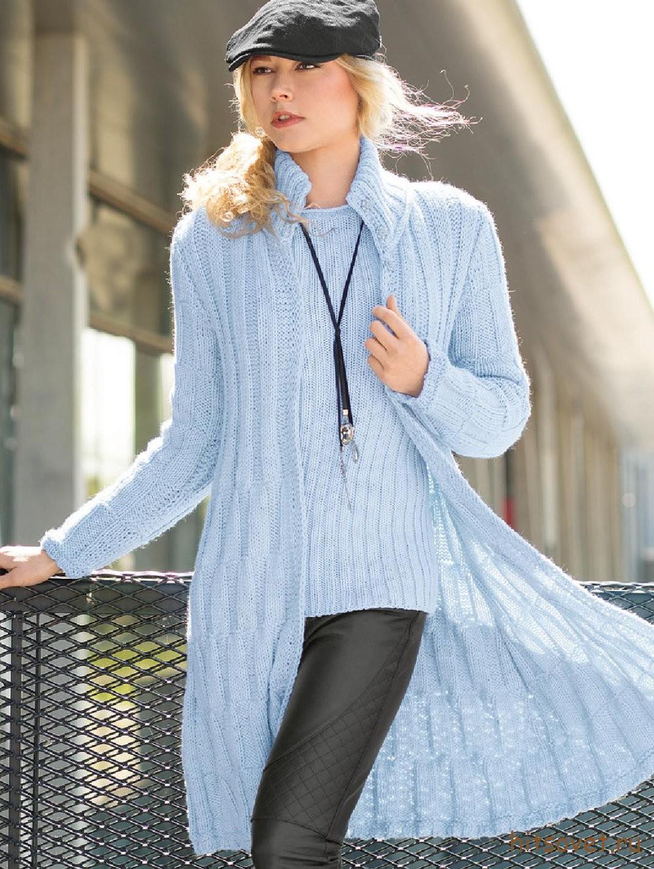 Модное пальто 2015 спицами