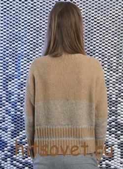 Пуловер женский вязаный спицами с описанием, фото 2.