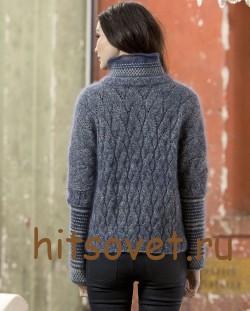 Пуловер женский 2015 с описанием, фото 2.
