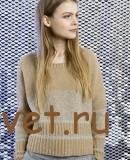 Пуловер женский вязаный спицами с описанием