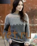Пуловер женский спицами описание