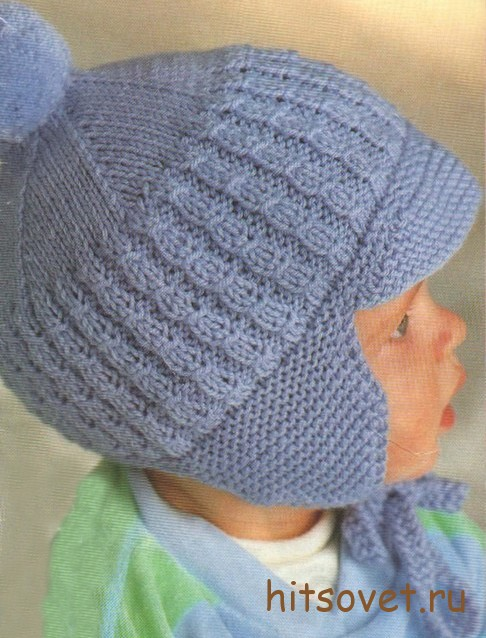 Шапка шлем спицами страна мам - b1b8