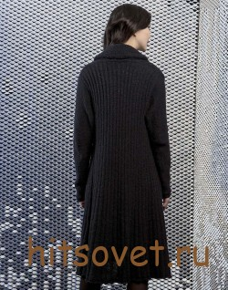 Вязаное пальто спицами 2015 с описанием, фото 2.