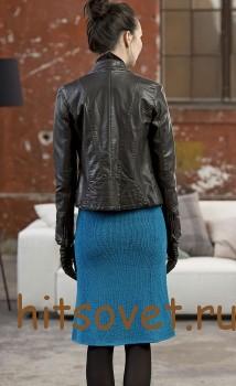 Юбка спицами для женщин с описанием, фото 2.