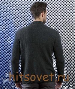 Жакет мужской спицами с описанием, фото 2.