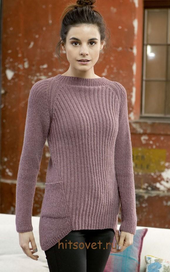 Женский пуловер спицами 2015 с описанием