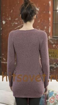 Женский пуловер спицами 2015 с описанием, фото 2.