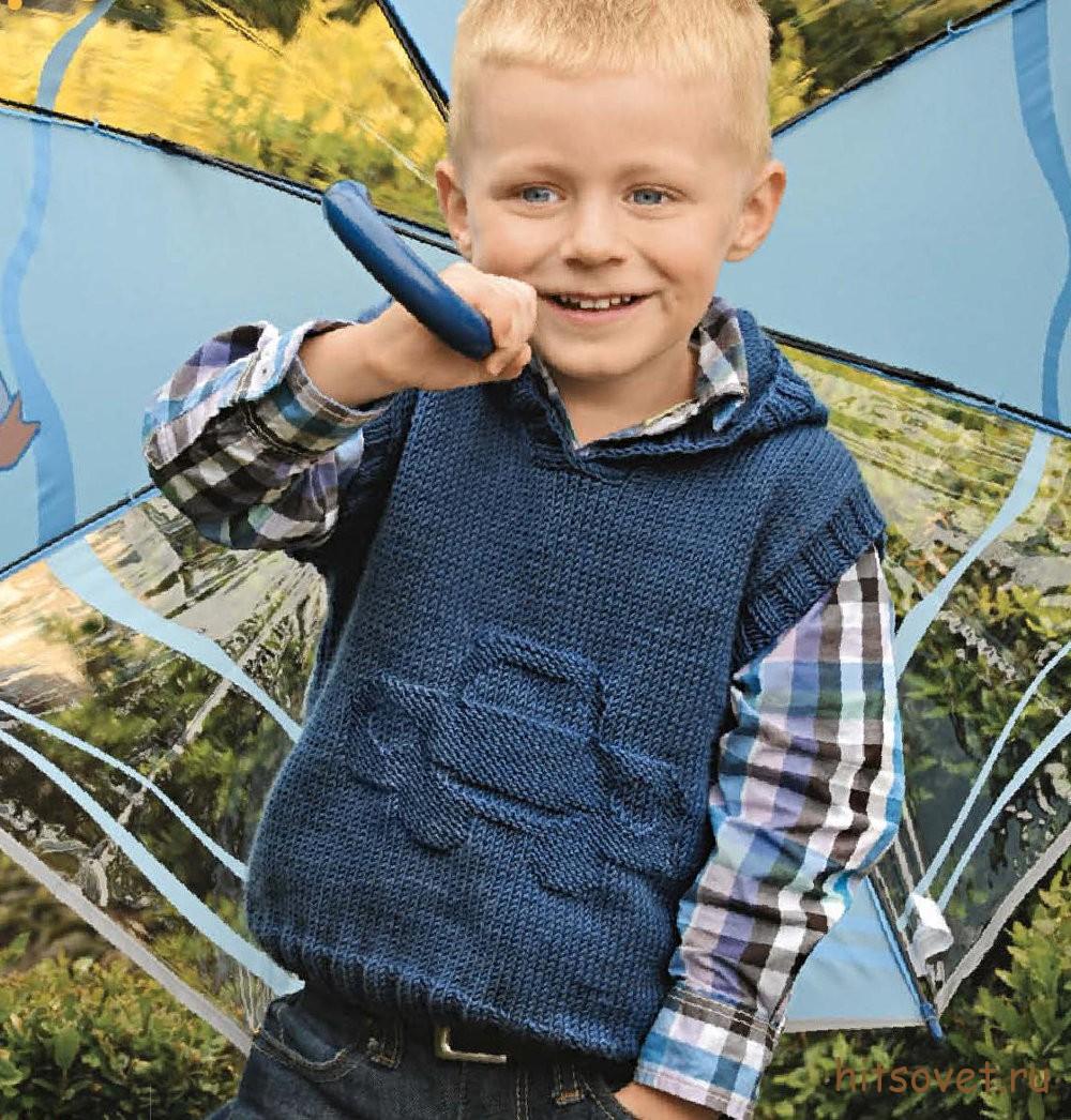 Вязание детские жилеты для мальчиков 99