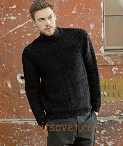 Джемпер мужской вязание спицами