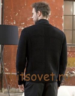 Джемпер мужской вязание спицами, фото 2.