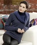 Модный пуловер спицами с описанием и схемами, фото 1.
