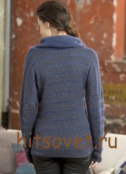 Модный пуловер спицами с описанием и схемами, фто 2.