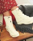Вязаные носки сапоги схемы и описание, фото 1.