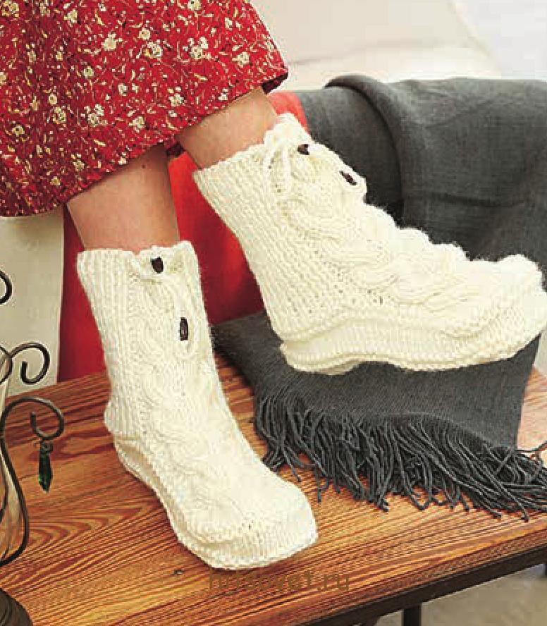 Вязаные носки сапоги схемы и описание - Хитсовет