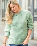 Простой пуловер спицами для начинающих