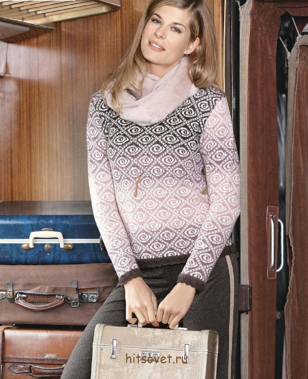 Пуловер женский спицами схемы с описанием