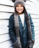 Вязаная шапка шарф с ушками описание