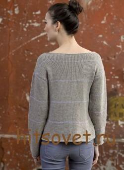 Вязаный пуловер женский 2015 с описанием, фото 2.