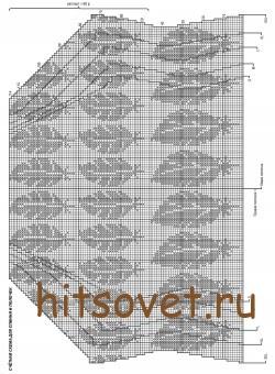 Схема жаккардового жакета, фото 1.