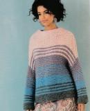 Пуловер из толстой пряжи спицами, фото.