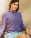 Красивый свитер спицами, фото 1.